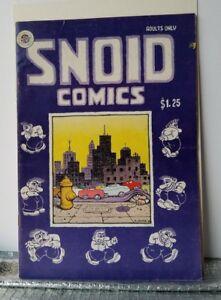 SNOID COMICS, 1979 ROBERT CRUMB.KITCHEN SINK $1.25 COVER 1st ED. COMIC BOOK