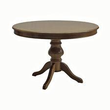 Tavolo rotondo in legno, allungabile, noce arte povera!