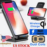 Qi Wireless Charger Fast Charging Pad Stand Dock Samsung Galaxy S9+ iPhone XS 8