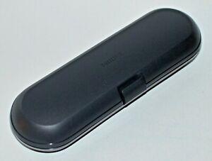 PHILLIPS SONICARE BLACK TOOTHBRUSH TRAVEL CASE BOX HOLDER CONTAINER PLASTIC