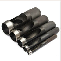 Round Hollow Punch Set Hand Tools Hole Punching Leather Gasket Carbon Steel