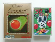 Classic Snooker / 3D Snooker - Commodore 64 CBM64 C64 Cassette Game Twin Pack
