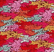 OOP Tula Pink - MOON SHINE - Camo Delux Strawberry, 100% cotton Fabric