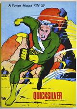 POWER PIN-UP Print - QUICKSILVER Vintage Art Marvel UK Dist Avengers