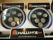 Land Rover Defender 7'' Black LED Head Lights With DRL Side Light & Indicator
