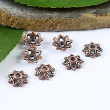 100pcs copper tone flower bead caps H1944