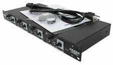 Elite Core HA4X4 4-Channel Headphone/Monitor/Line Distribution Rack Amplifier