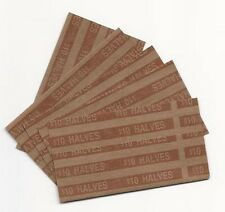 (25)  Fifty Cent - Half Dollar Pop-Open Flat Paper Coin Wrappers