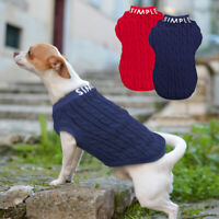 Winter Kintted Dog Sweater for Small Dogs Chihuahua Clothes Soft Knitwear Jumper