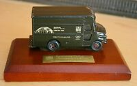 Vintage 90s UPS Delivery Truck Figure 90th Anniversary  Metal on Wood Base