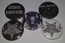 5 Dark Funeral button Badges Black Metal Satan Mayhem Emperor Dark Throne Venom