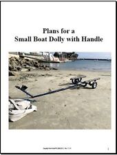 Dolly PLANS to build a Small Boat cart carrier - Sunfish, Laser, Sabot, 420, FJ
