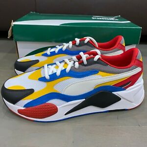 Puma Mens RS-X3 Puzzle Extreme Spectra Yellow White Red Blue 371570-04 Size 10