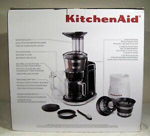 KITCHENAID Maximun Extraction Juicer - KVJ0111OB - Onyx Black - Open Box, Mint