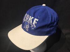 Vintage Duke Blue Devils Hat Snapback Hat The Game 90's  Cap Blue