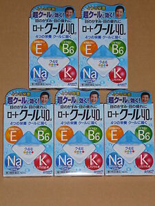 5 x ROHTO Cool 40 a Japanese Nutrient Eyedrops cooling bitters 12ml Japan NEW