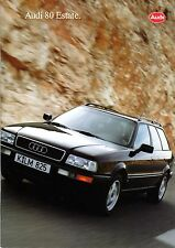 Audi 80 Estate Brochure 1993 42pg NOS inc 6-Sided Tech Specifications Foldover