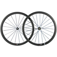 700C Racing Carbon Cycle Clincher 38mm Road Carbon Bike Wheels F&R Wheelset