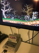 SNES - Super Ghouls And Ghosts Super Nintendo Retro Game Very Rare