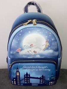 2021 Disney Parks Loungefly Peter Pan Second Star Glow In The Dark Mini Backpack