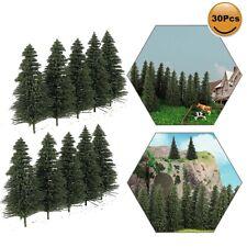 30pcs Model Pine Trees 8cm Deep Green Pines For HO Scale Model Railroad Layout