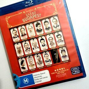 THE GRAND BUDAPEST HOTEL Blu Ray Disc Theft Drama Bike Chase NEW & SEALED