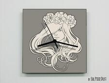 Art Nouveau Lady Wall Clock
