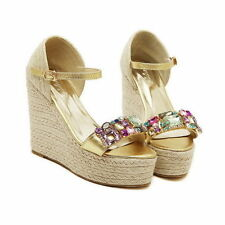 Women's Solid Wedge Sandals
