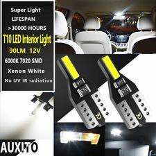AUXITO 2xT10 168 194 LED Interior Light Bulb License Map Side Marker 6000K White