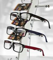 EYEKON Reading Glasses 1.5 - 4.0 Internal Metal Spring Hinge British STD (1108)