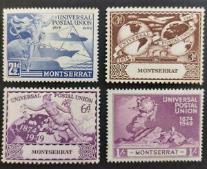"Montserrat 1949, ""U.P.U."" set or 4x stamps mh"