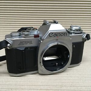 Canon AV-1 35mm SLR Film SIlver Body - Full working condition