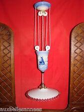 SUPERBE ANCIEN MONTE ET BAISSE / LUSTRE SUSPENSION LUMINAIRE PLAFONNIER OLD LAMP
