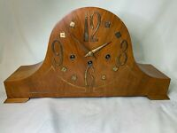 Vintage UNIQUE ART DECO CHIMING MANTEL CLOCK Cuckdo Germany Works d873