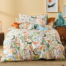 Linen House Kids Tales And Scales Quilt Cover Set. Reversible. lizards, snakes
