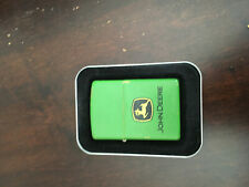Zippo John Deere with decals and tractor key hanger