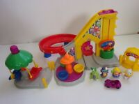 Fisher Price Little People Circus Merry Go Round Ticket Booth clown dog people