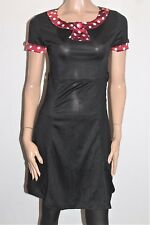 Unbranded Designer Black Red Polka Dot Trim Rockabilly Dress Size XS BNWT #TH54