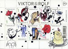 Países Bajos 2017 estampillada sin montar o nunca montada Viktor & Rolf 10 V m/s sellos de diseño de moda y