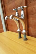 Reclaimed vintage tall Chrome Belfast Sink Taps
