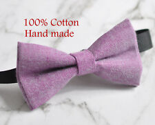 ced3fee7218b6 Handmade Bow Tie Pink Ties for Boys for sale | eBay