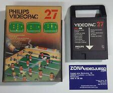 Videopac 27, Futbol de mesa, Electronic table Football, Philips Videopac.