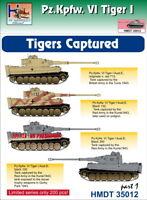 H-Model Adhesivos 1/35 Pz.kpfw.vi Tiger i Capturado Tigres, Parte 1 #35012
