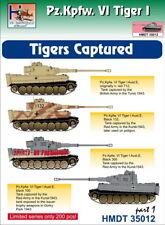 H-Model Decals 1/35 Pz.Kpfw.VI Tiger I Captured Tigers, Part 1 # 35012