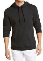 Sun + Stone Mens Hoodie Charcoal Gray Sz XL Waffle Knit Thermal Pullover $45 364