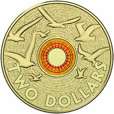 2015 Australia $2 Dollar Anzac Remembrance Day Orange Ring Commemorative Coin