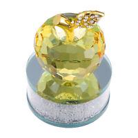 1 Pc Apple Decor Crystal Durable Sturdy Decor Ornament Adornment