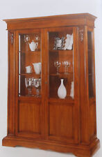 Vetrina cristalliera mobile classico legno massello finitura bassano art.484