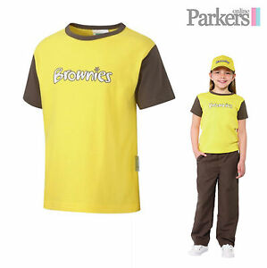 """NEW BROWNIES SHORT SLEEVE T-SHIRT TOP BROWNIES GIRL GUIDES UNIFORM SIZE 26""""-36"""""""
