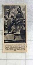 1925 Herr F Birtles Kreuze Australien von Port Darwin zu Adelaide in neun Tagen